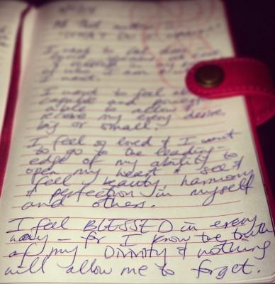 Journal affirmation visioning